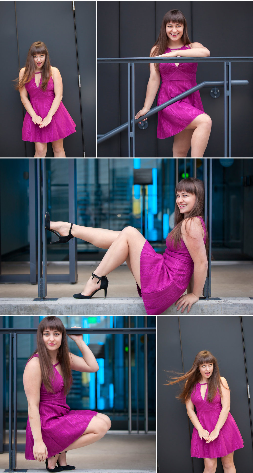 Fashion Inspired Urban Senior Portraits in the streets of Denver with photographer Jennifer Koskinen, Merritt Portrait Studio