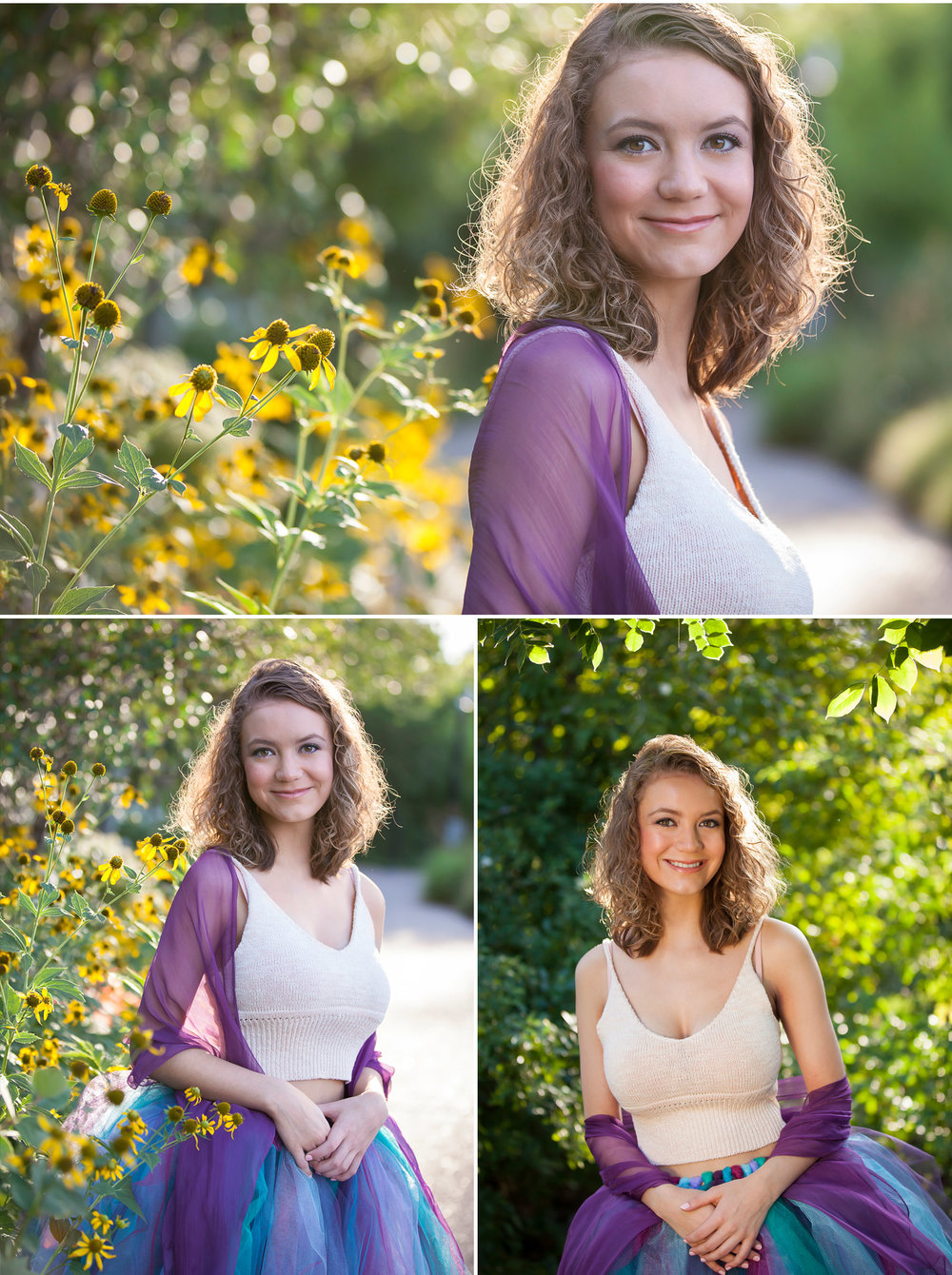 Senior Pictures in Denver Botanic Gardens, photographer Jennifer Koskinen