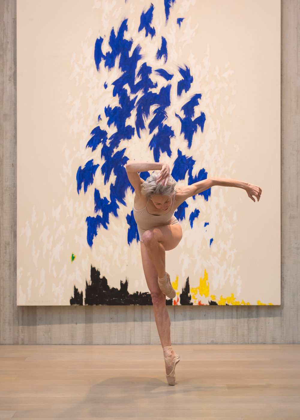 Valerie Madonia dances in photo session at Clyfford Still Museum with photographer Jennifer Koskinen, Merritt Portrait Studio