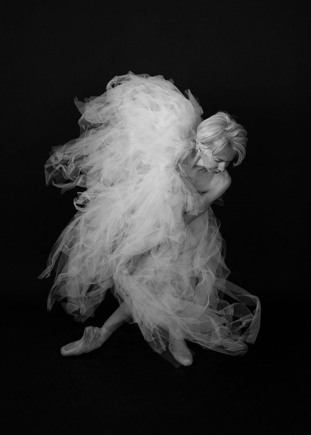 Valerie Madonia dances in tulle for Fine Art Photo Series with Denver photographer Jennifer Koskinen