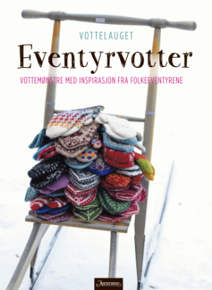 Forsiden til papirboka, Eventyrvotter, som vi i Vottelauget gir ut på Aschehoug i august 2015