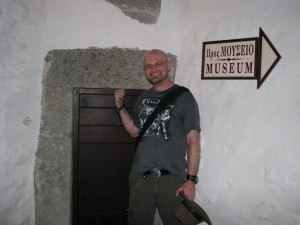 I wanted to show Terri and Paige that the monks used to be short enough that the doors were this high.