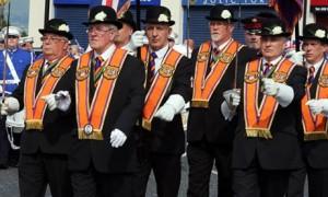 Orangemen parade in Belfast