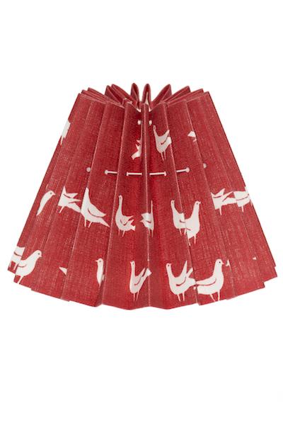 Lampskärm duvtyg röd
