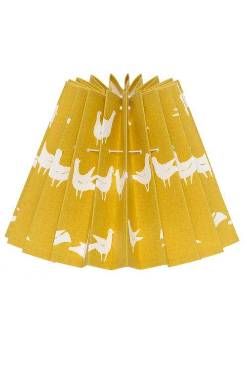 Lampskärm duvtyg gul