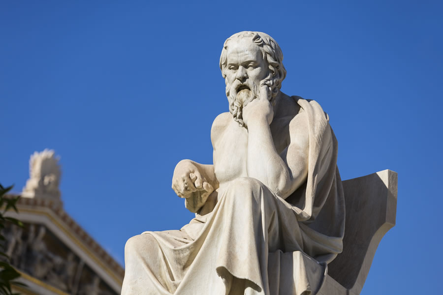 Statue of the famous philosopher, Socrates.
