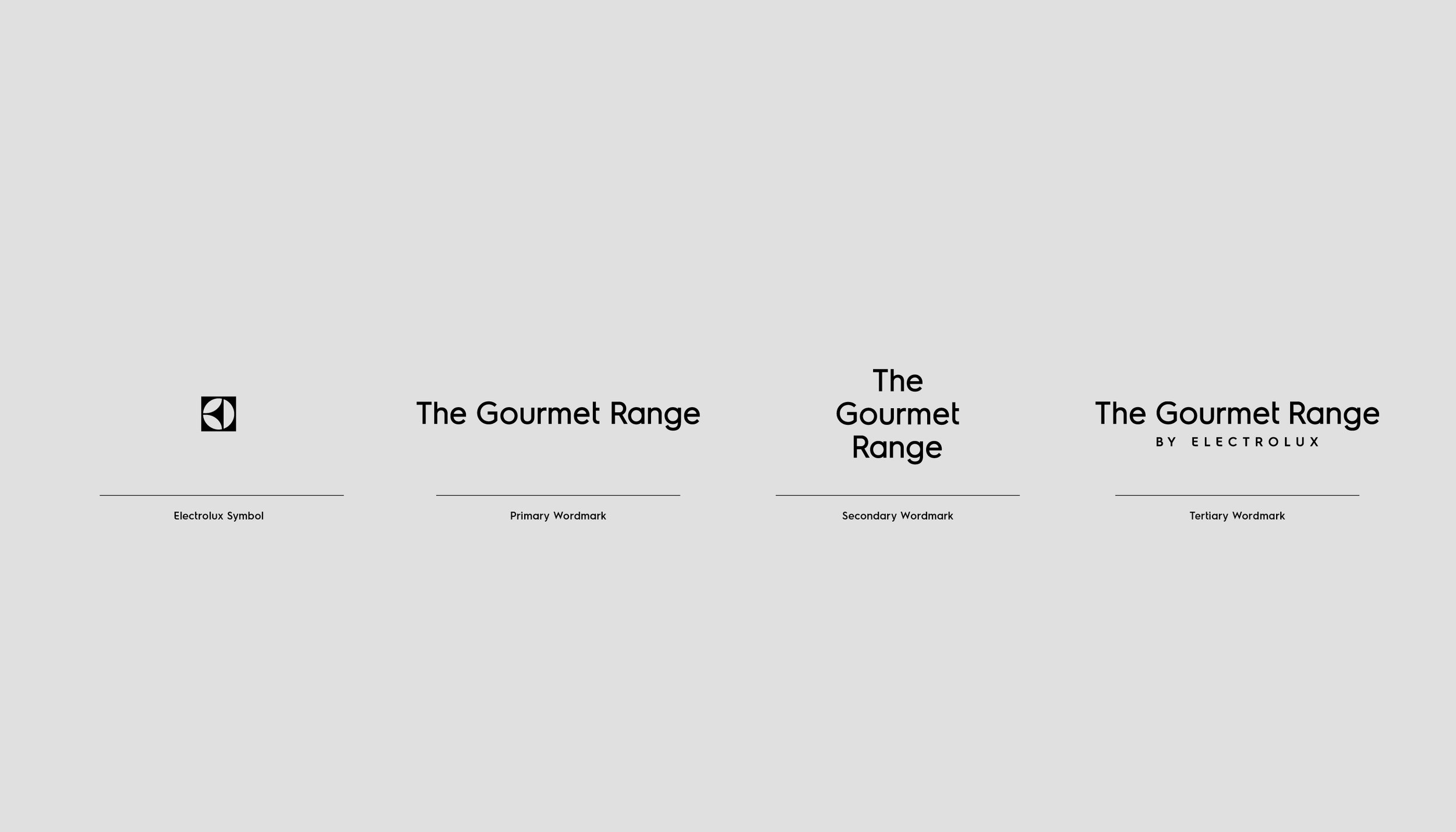 Electrolux Gourmet Range Brand Identity Anders Nord