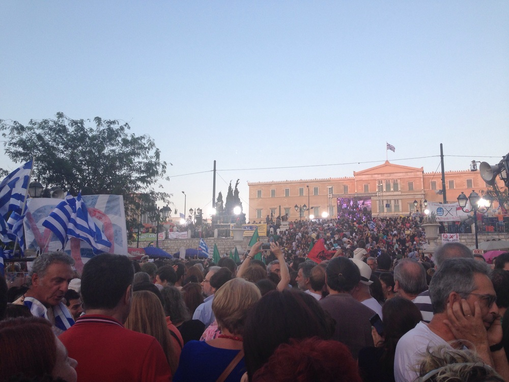 Syndgma Square during the rally.