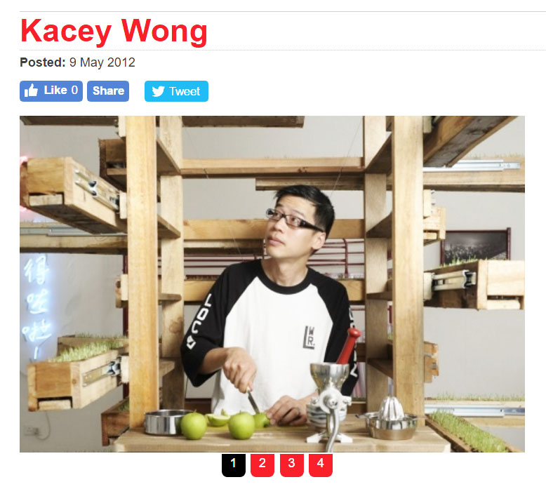 May/9/2012 Time Out  Kacey Wong interview