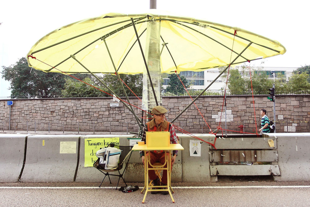 Umbrella Movement Human Protraiture 雨傘人像