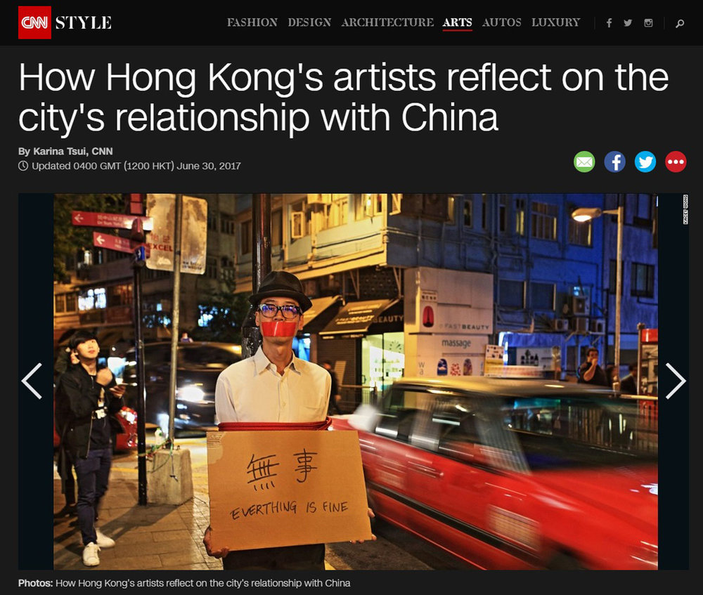 June/30/2017 CNN  How Hong Kong's artists reflect on the city's relationship with China
