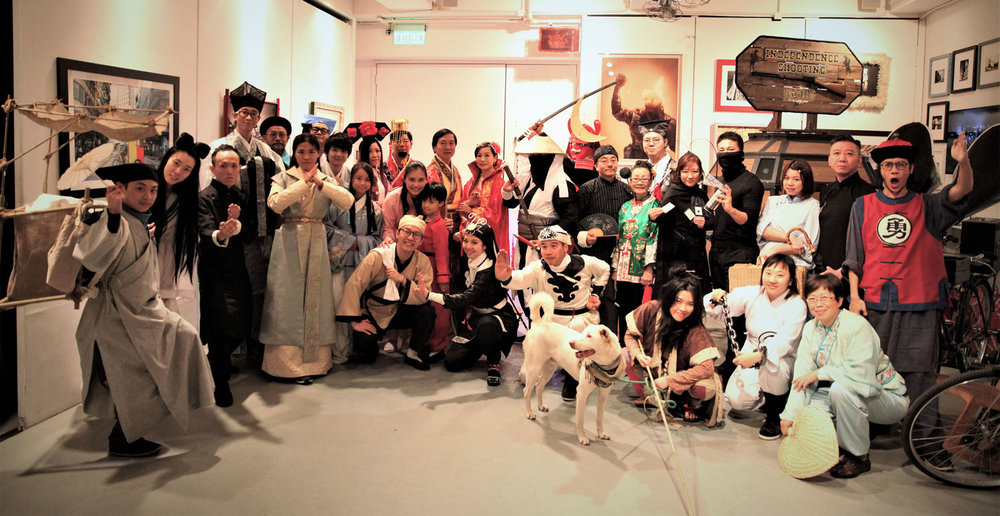 [Dec/31/17] New Year Party  This year's count down party was so much fun. The theme is Chinese Kung Fu Drama and I dressed up as 曹達華in the movie series如來神掌. I spent a week constructing the costumes from scratch and successfully surprised my guests. Some of my guests bought costumes from the internet and they look amazing. With the Kung Fu music playing in the background we had a blast of the past and suddenly we are in 2018!