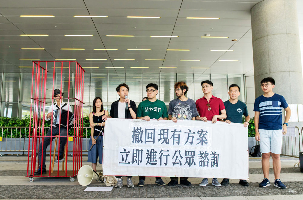 May/23/2018 Apple Daily  40 Organisations signed jointed decoration to oppose the National Anthem Law