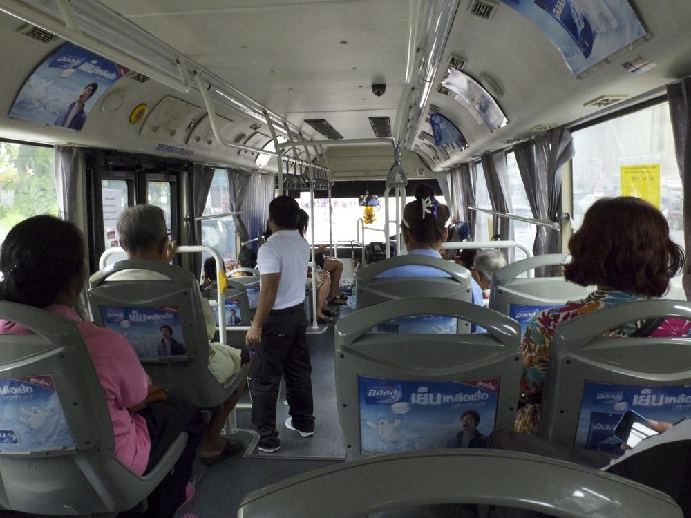 Bangkok Bus is very cheap transport Mode
