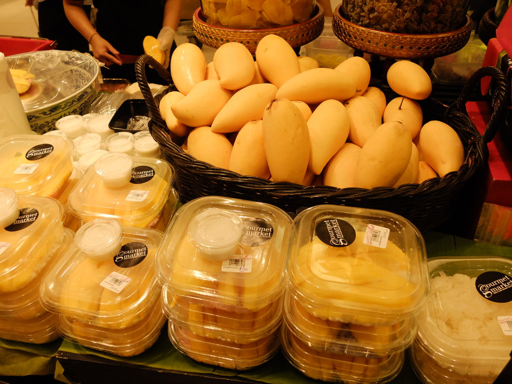 Mangoes with Sticky Rice at Siam Paragon Tasty and Yummy