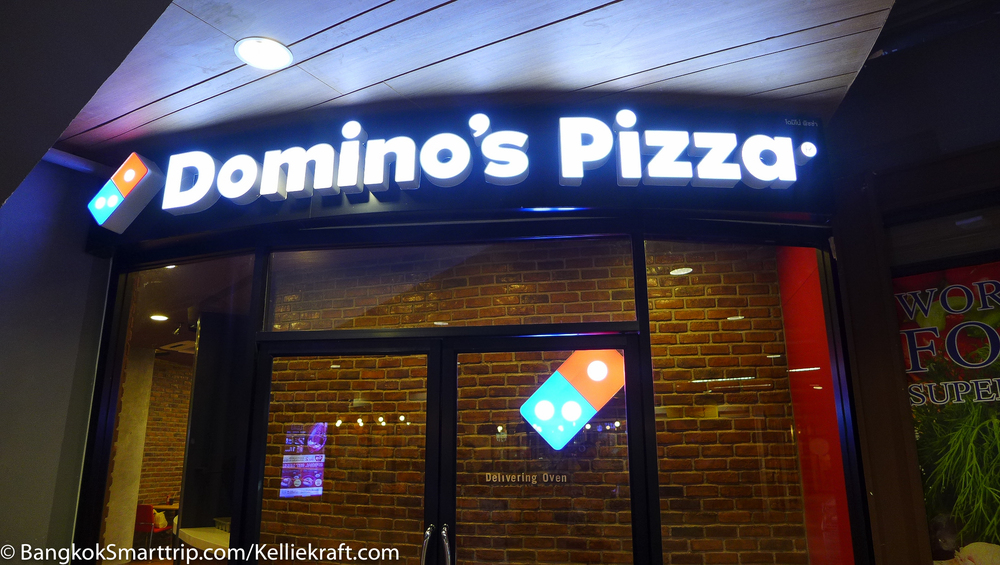 Domino Pizza thailand at senafest Review Fast Food in Thailand