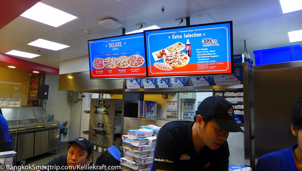 Ordering System :Domino Pizza thailand at senafest Review Fast Food in Thailand