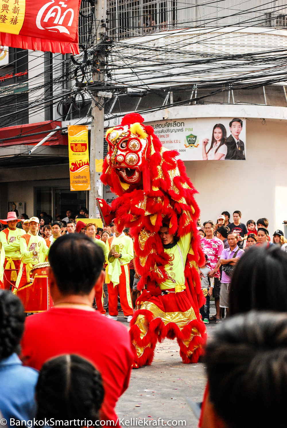 Lion dance , Canon 5D Mark ii,in Nakhon Sawan