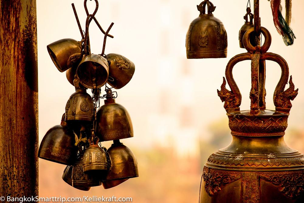 Wat Kiriwong Nakhonsawan Golden Bell Thailand