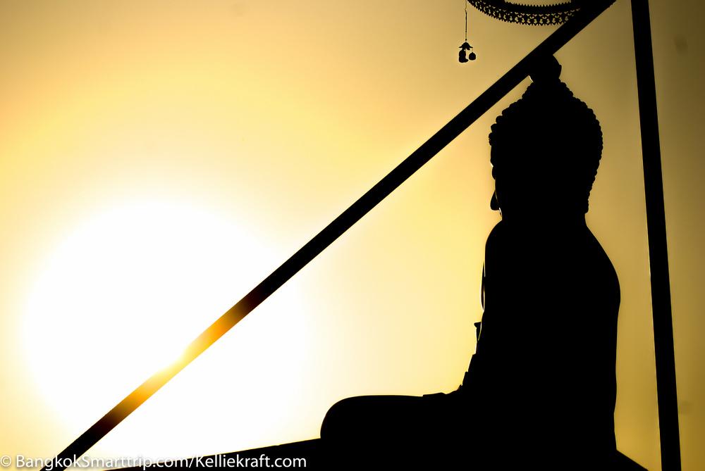Wat Kiriwong Nakhonsawan Thailand silhouette