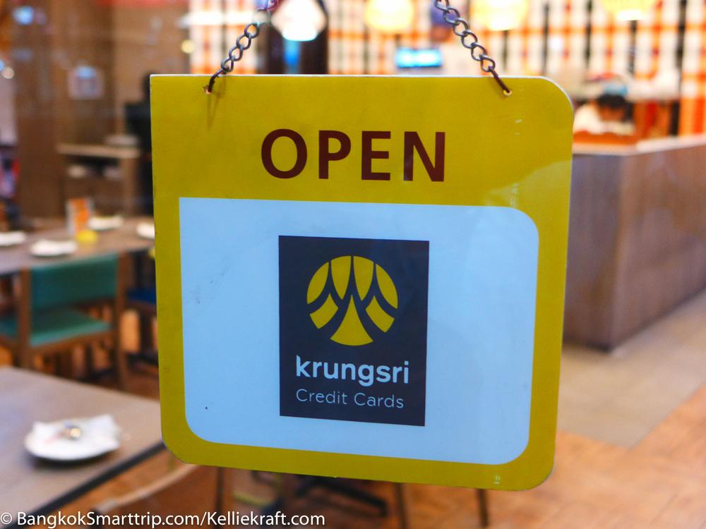 Krungsir Credit Card can discount for Sansab Restaurant