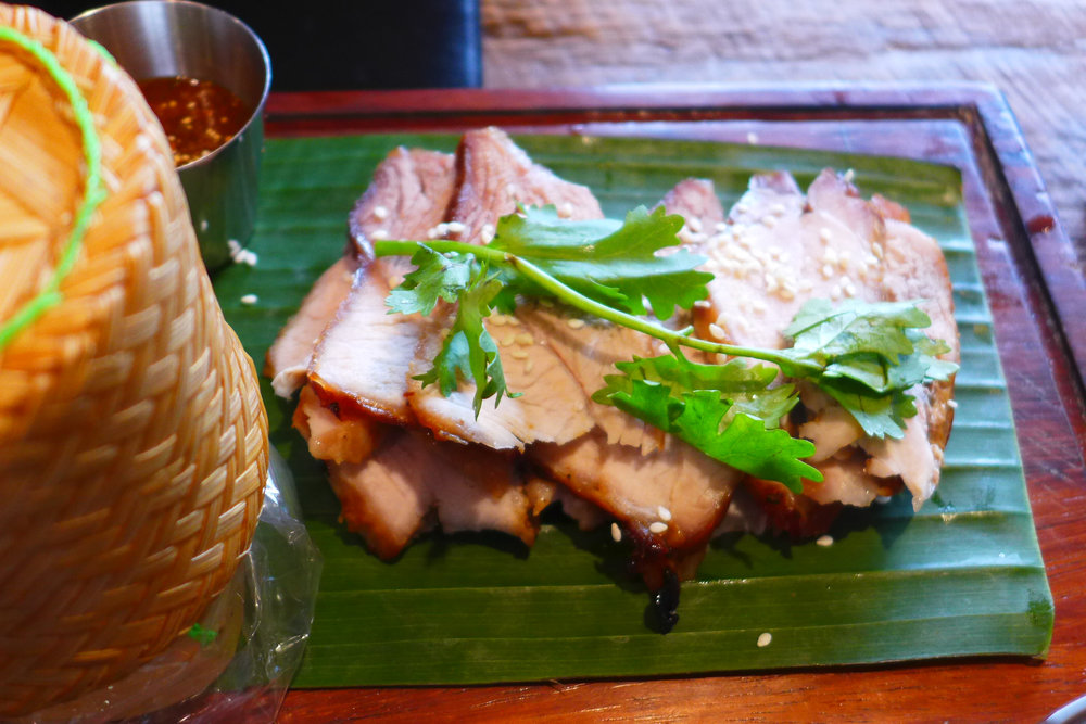 Grilled Pork in spicy Esarn Style Sauces