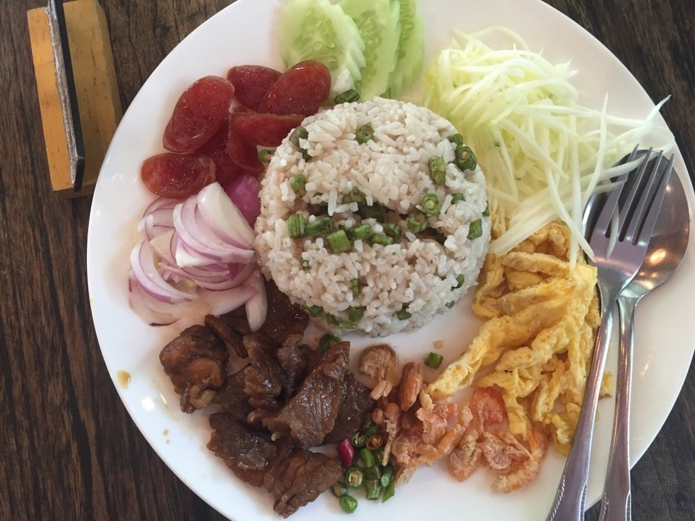 Kao Krung Kapi or Kapi pastes with rice. it's very special food in Thailand. very very old fashion one
