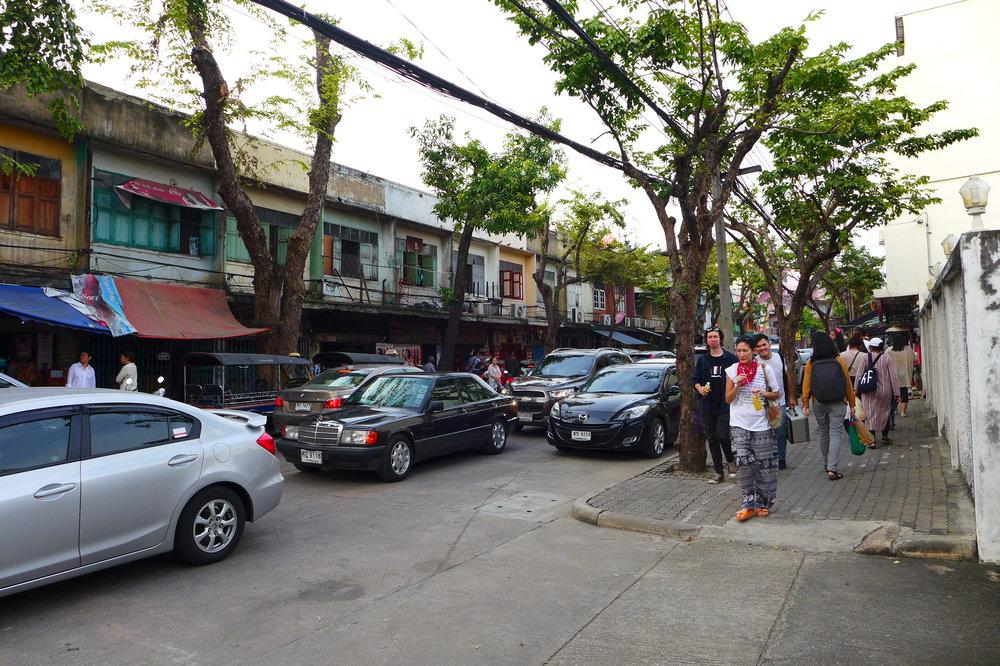 You have to walk a little bit to Lhong from Main Street (Khong San)