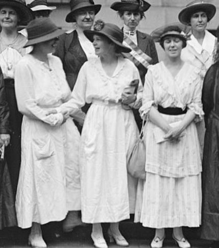 Women's Suffrage group at headquarters, Wash DC, 1917