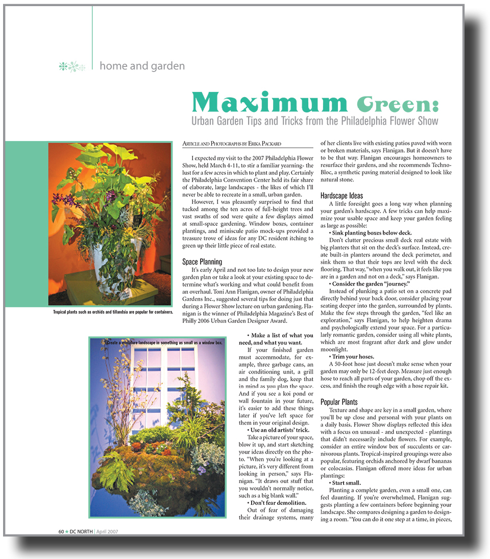 Maximum Green: Urban Garden Tips And Tricks From The Philadelphia Flower  Show DC North,
