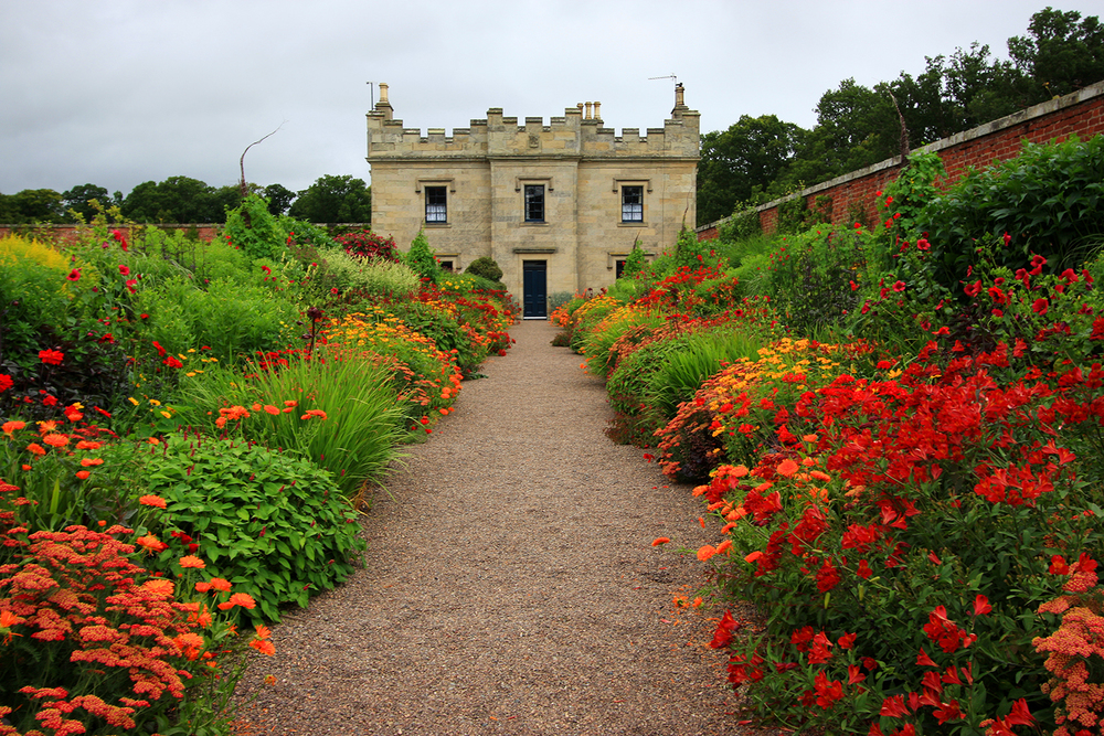 Rethinking red single color herbaceous borders at floors for Herbaceous border design examples