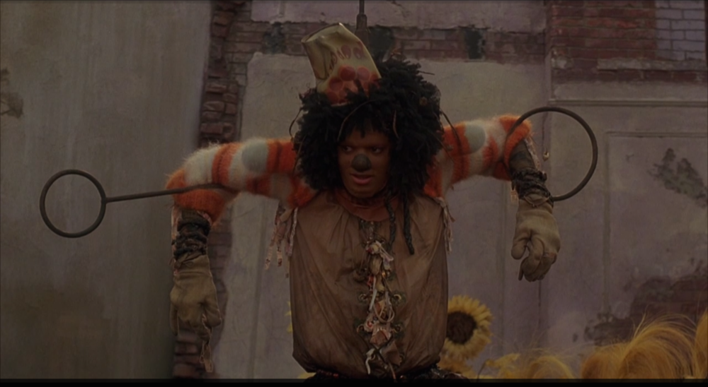 Michael Jackson as the scarecrow