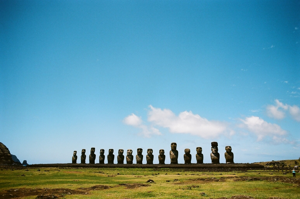 Easter Island on Portra 160