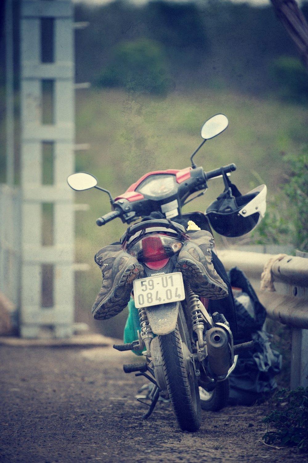 My small 125cc motorbike in Vietnam, way back in 2012.