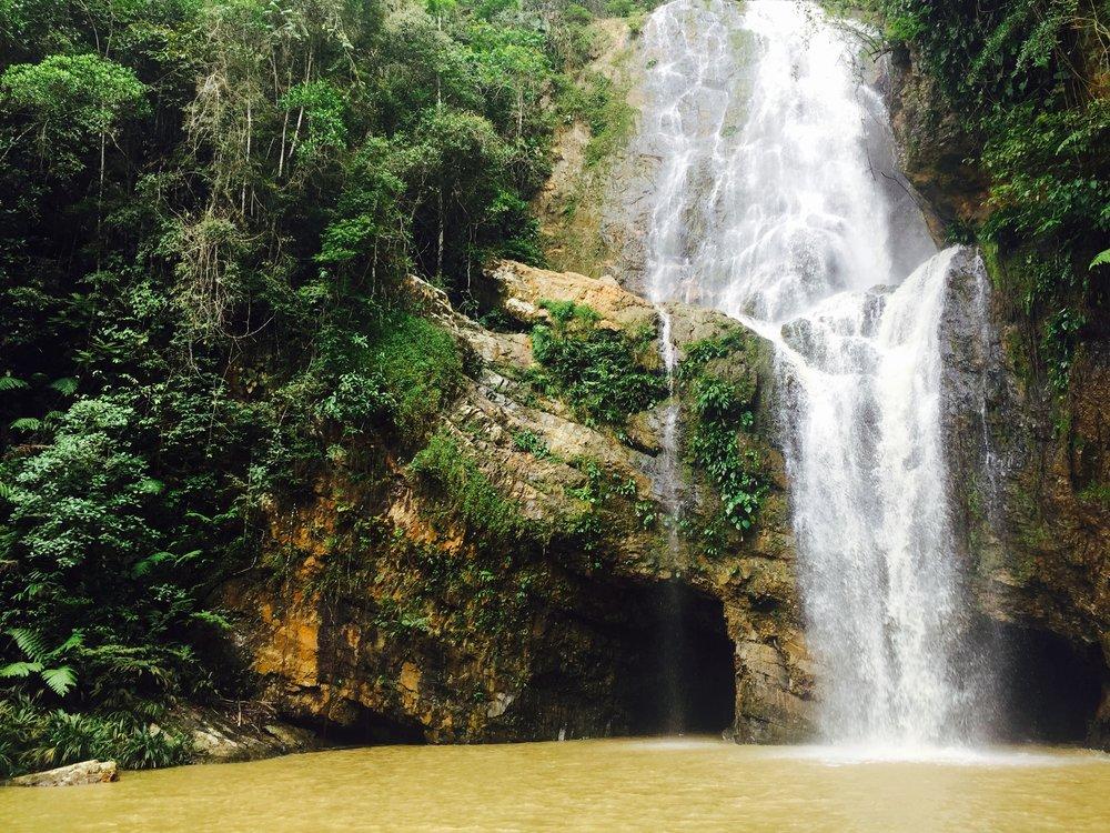 Cascadas near San Pedro de la Tigra.