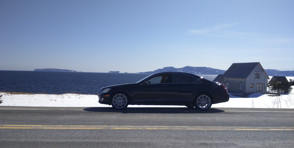 Mercedes-Benz S550 4Matic in Gaspesie, Quebec, Canada. Inferior to a W140 in every regard.