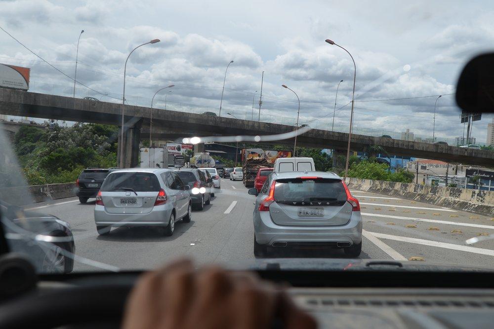 Driving in sao Paulo.