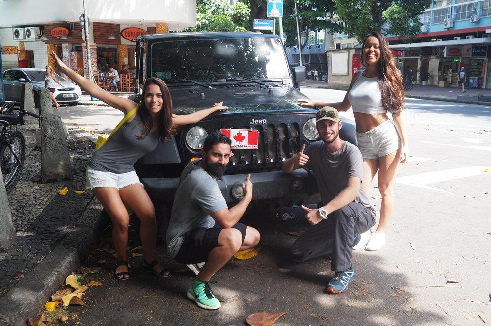 Rio de Janeiro with friends.