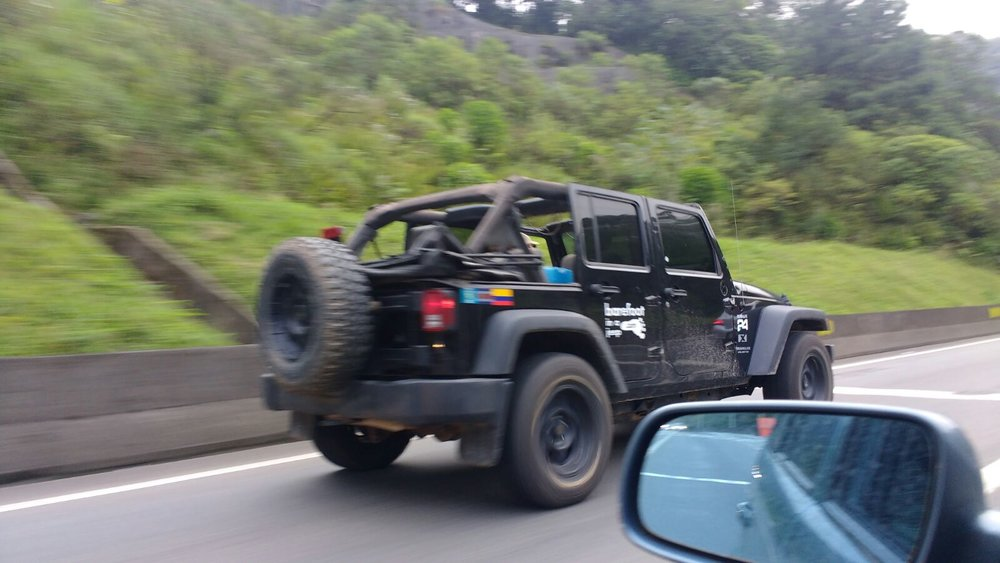 Driving on the highway in Brazil.