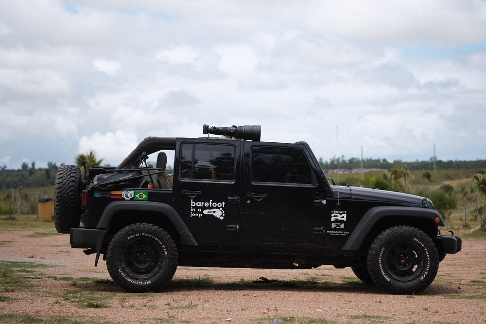 The Jeep with a 600mm mounted gun.