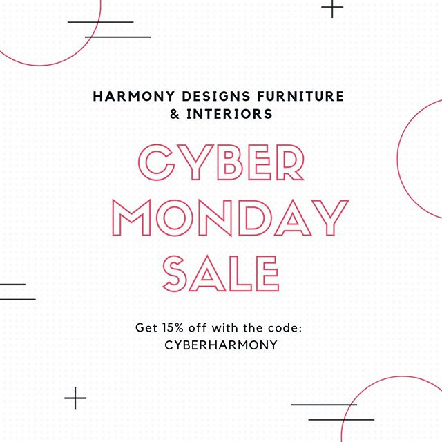 Cyber Monday Sale begins now at Harmony. 15% off orders $50.  Use discount to code CYBERHARMONY