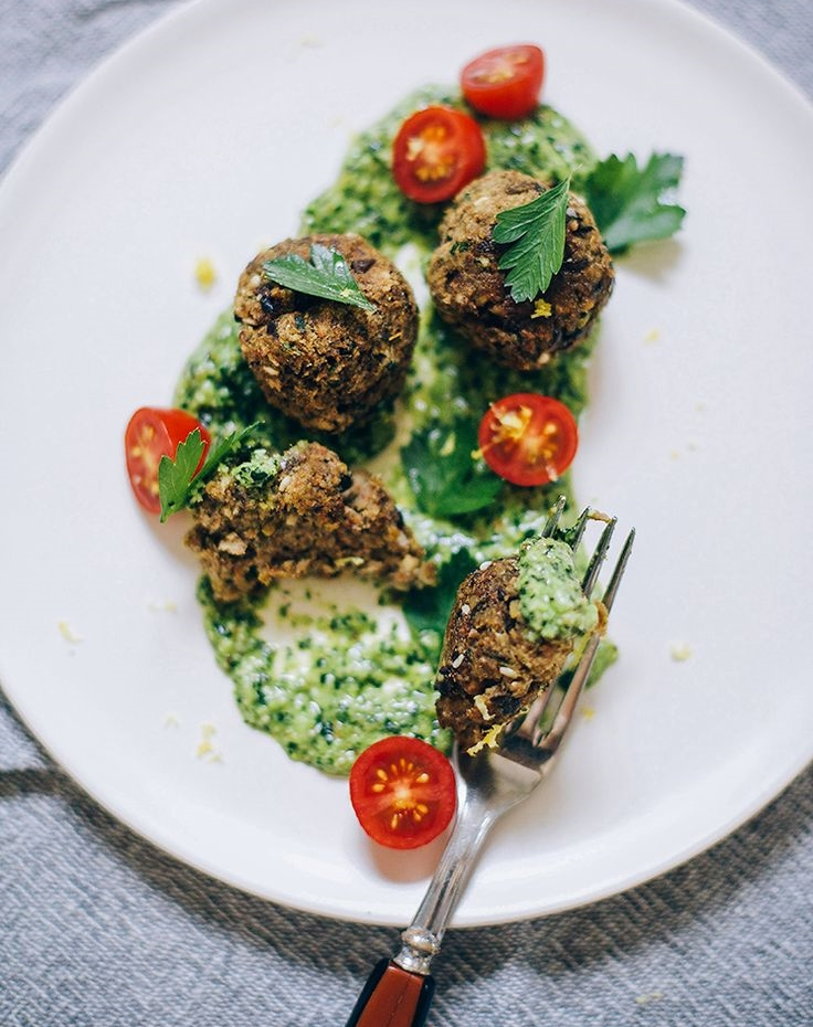 Eggplant meatballs by The First Mess for Both SIdes Buttered's food x fashion