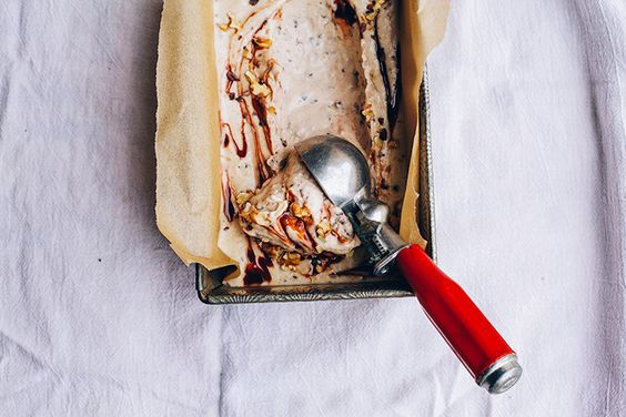 Both Sides Buttered raw + vegan chunky monkey ice cream :: via @thefirstmess.jpg