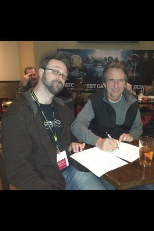 Signing the Horn Grip licensing agreement with Terry Warburton in Chicago
