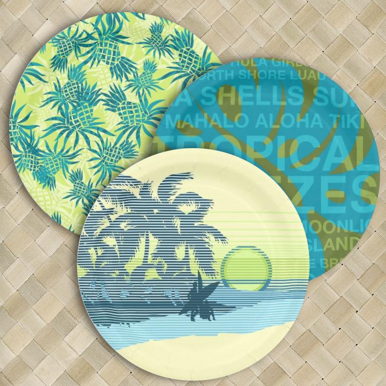 Luau Paper Plates