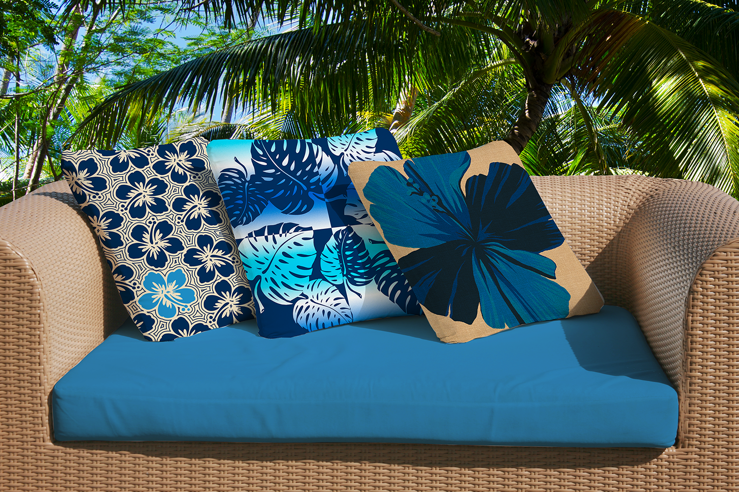 Hawaiian Decor Tropical Home Furnishings Decorative Pillows Tiki