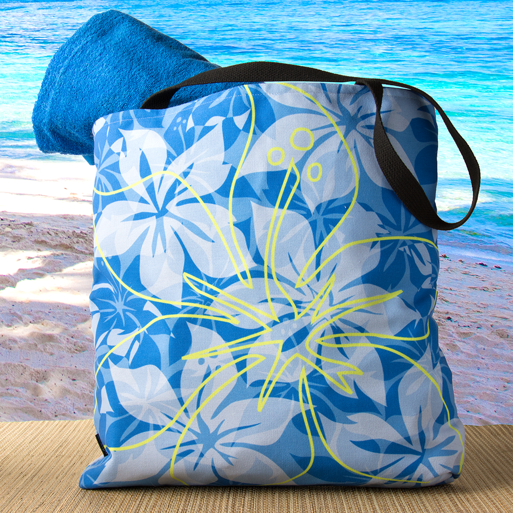 Hawaiian Print Beach Bags