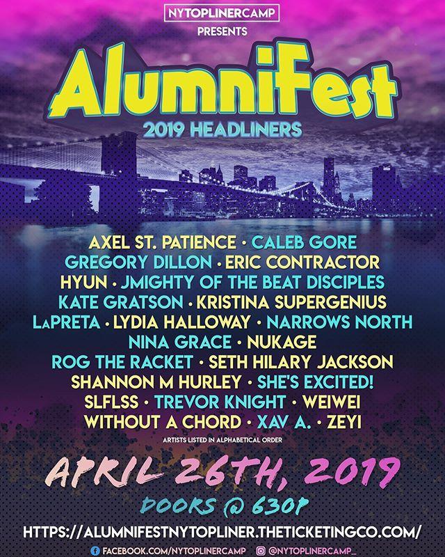 #alumnifest ticket link in bio