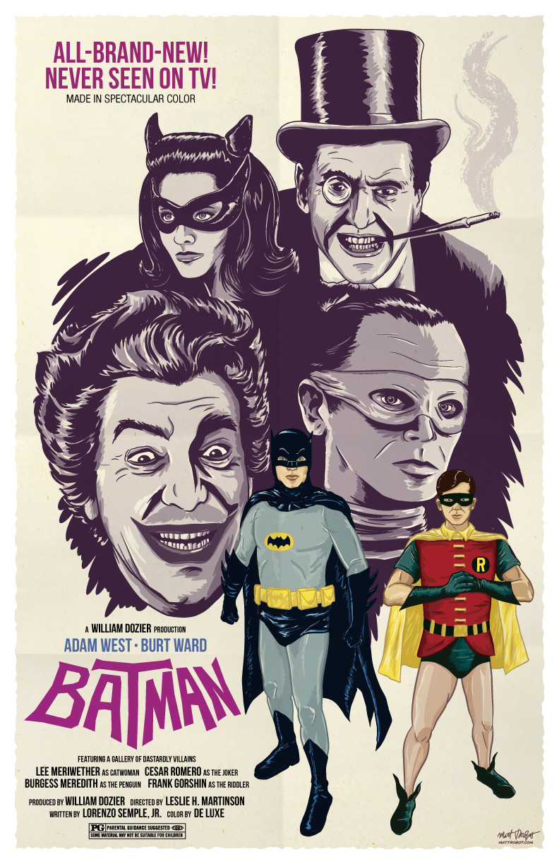 Batman '66 Poster by Matt Talbot