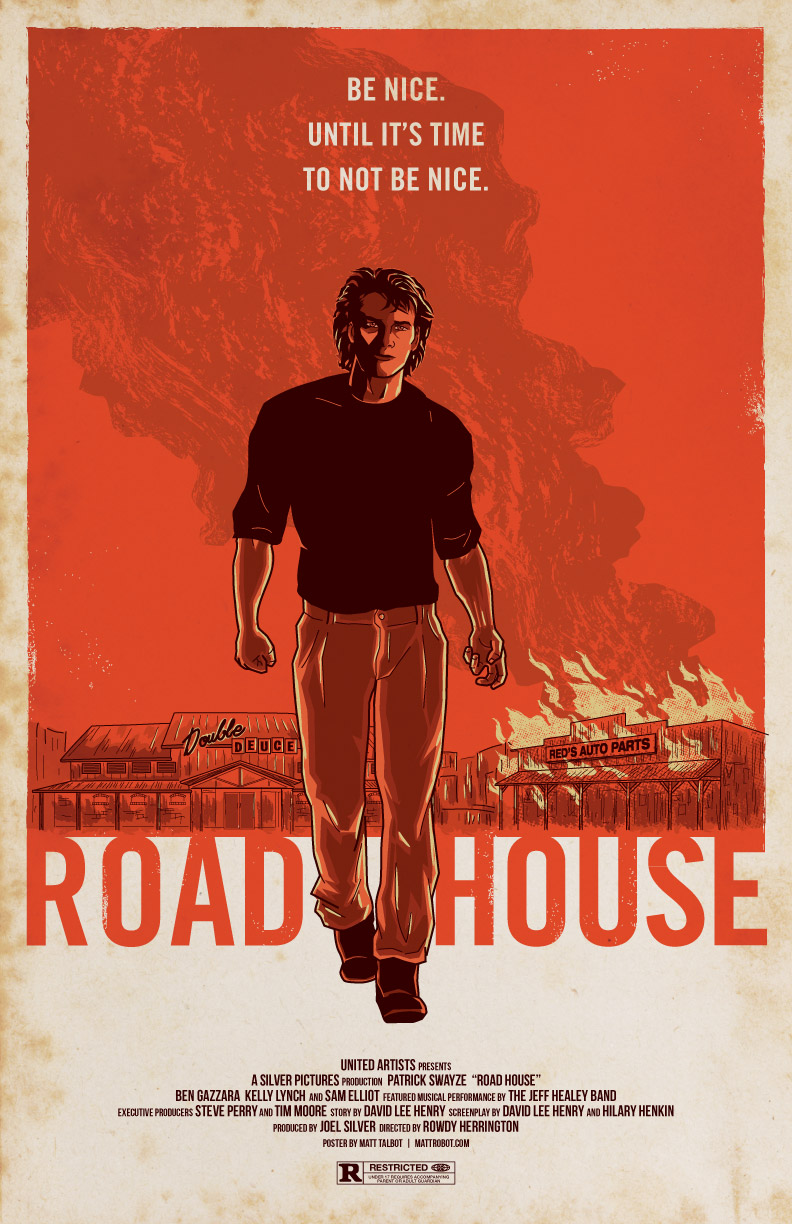 Road House Poster by Matt Talbot